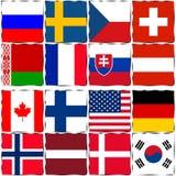 Championnat 2018 du monde de hockey sur glace de drapeaux de pays Photo stock