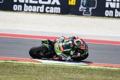 Championnat du monde de Superbike de FIM - 4ème session de pratique gratuite Image stock