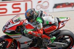 Championnat du monde de Superbike de FIM - session de Superpole (2) Image libre de droits