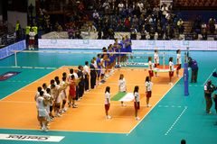 Championnat du monde de volleyball de FIVB Menâs Image stock
