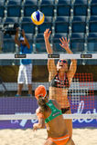 Championnat du monde de volleyball de la plage 2011 - Rome, Italie Photo stock