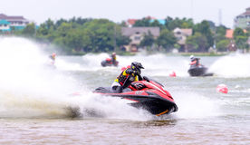 Championnat du nord-est 2015 de la Thaïlande de scooter de mer Images libres de droits