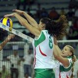 CHAMPIONNAT DU VOLLEYBALL DES FEMMES DE FIVB - BULGARIE Photo libre de droits