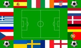Championnat européen 2012 du football Image stock