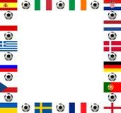 Championnat européen 2012 du football de trame carrée Images stock