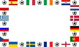 Championnat européen 2012 du football de vue Image libre de droits
