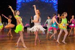 Championnat européen WADF de danse artistique Photo libre de droits