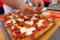 Championnat italien absolu de pizza photographie stock libre de droits