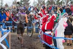 Championnat national de cyclo-cross - hommes d'élite Images libres de droits