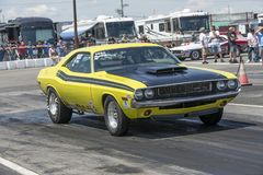 Dodge challenger on the track royalty free stock photo