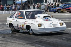 Dodge omni drag car at the starting line Stock Image