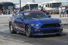 Ford mustang cobra jet at the starting line Stock Photos