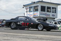 Pro mod drag car on the track at the starting line Stock Photography