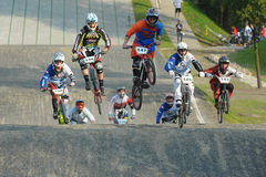 Championnat polonais de emballage de BMX Photos stock