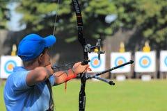 Championnat tchèque de tir à l'arc Photo libre de droits