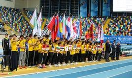 Championnats d'intérieur d'athlétisme balkanique Images libres de droits