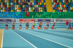 Championnats d'intérieur de tasse à Istanbul - en Turquie Photographie stock