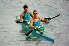 Championnats d'Italien de canoë et de kayak Images libres de droits