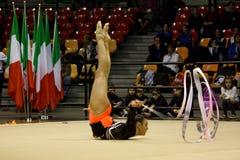 Championnats d'Italien de gymnastique rhythmique Images libres de droits