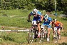 Championnats européens dans le vélo de montagne Photo libre de droits