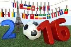 championnship de 2016 Européens Images stock