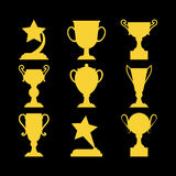 Champions awards winner icons. Vector illustration Royalty Free Stock Photos