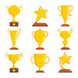 Champions awards winner icons. Vector illustration Stock Photography