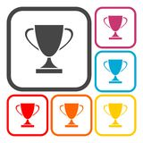 Champions Cup icons set. Champions Cup icon, vector icon Royalty Free Stock Photos