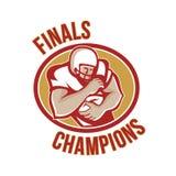 Champions de finales de running back de football américain Image libre de droits