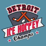Champions de hockey sur glace de Detroit illustration libre de droits