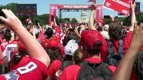 Champions de tasse de Washington Capitals Stanley banque de vidéos
