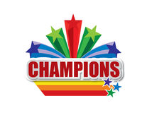 Champions Design Word On White Background Royalty Free Stock Images