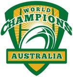 Champions du monde de l'Australie de bille de rugby illustration de vecteur
