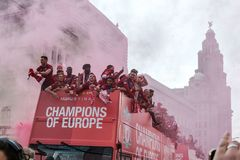 Champions of Europe Liverpool football club. Sport, competition, soccer stock images
