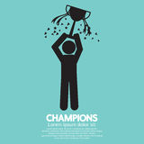 Champions Graphic Sign Royalty Free Stock Photography