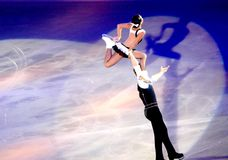 Champions on ice -Rimini 2012- Bazarova & Larionov Stock Photo
