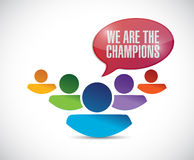 We are the champions illustration design Stock Photo