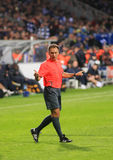 Champions League. FC Dynamo (Kyiv)-Arsenal FC (London)-1:1 Luis Medina Cantalejo, the field-referee for the FC Dynamo (Kyiv) vs Arsenal FC (London) Champions royalty free stock photography