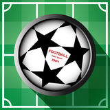 Champions league ball with starts Stock Photography