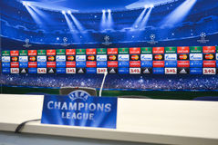 Champions League banner Stock Photography