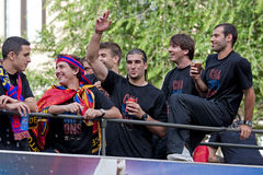 Champions League celebration of FC Barcelona Royalty Free Stock Images