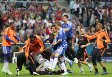 2012 Champions League Final Chelsea Training Stock Photography