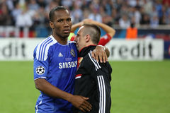 2012 Champions League Final Chelsea Training Royalty Free Stock Photography