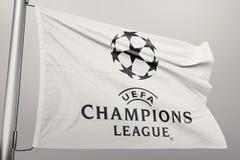 Champions League flag stock illustration