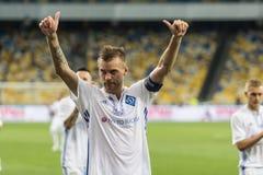 Champions League football match Dynamo Kyiv – Young Boys, July stock image
