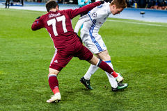 Champions League football match Dynamo Kyiv - Besiktas, december Stock Images