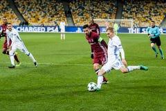Champions League football match Dynamo Kyiv - Besiktas, december Royalty Free Stock Photos