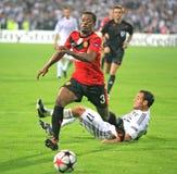 Champions League-Fußbalabgleichung Stockbilder