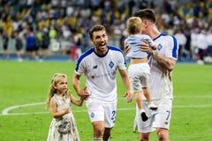 Champions League futbolowego dopasowania dynama Kyiv †'slavia prague, A Fotografia Stock