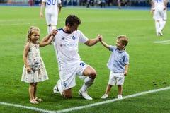 Champions League futbolowego dopasowania dynama Kyiv †'slavia prague, A Obrazy Stock